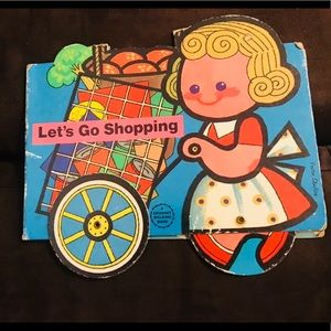 Rare 1975 VTG Children's Book LET'S GO SHOPPING